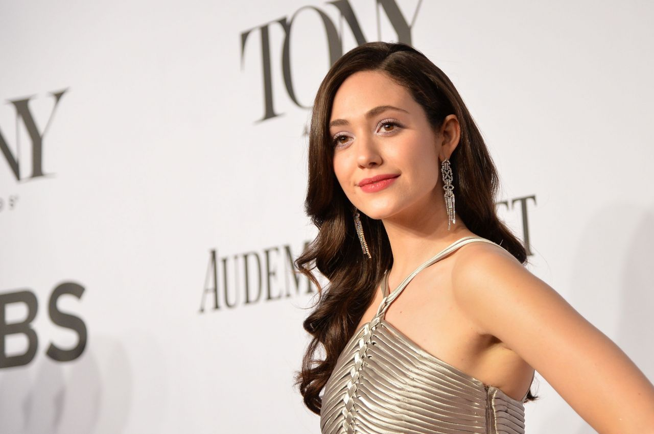 Emmy Rossum in Ralph Lauren Gown – 2014 Tony Awards in New York City