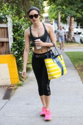 Emmy Rossum in Tights - Leaving a Gym in West Hollywood - June 2014