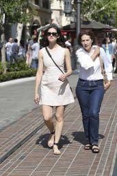 Emmy Rossum Leggy in Mini Dress at The Grove in L.A. - June 2014