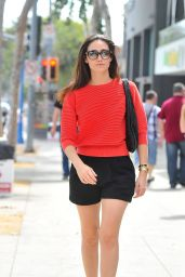 Emmy Rossum Street Style - Out in West Hollywood - June 2014