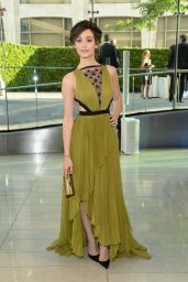 Emmy Rossum Wearing J Mendel Dress - 2014 CFDA Fashion Awards in NYC