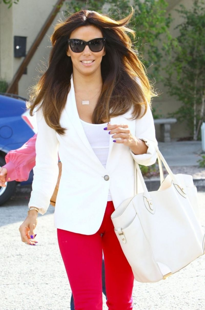 Eva Longoria - Leaving the Ken Paves Salon in Beverly Hills - June 2014