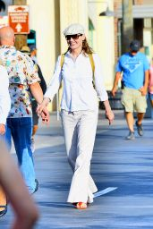 Geena Davis in Disneyland in Anaheim - June 2014