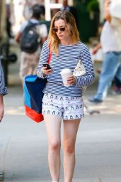 Gillian Jacobs in Shorts - Out in NYC - June 2014
