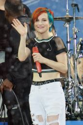 Hayley Williams Performs at Good Morning America in New York City - June 2014