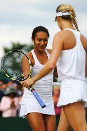 Heather Watson & Eugenie Bouchard – Wimbledon Tennis Championships 2014 – 1st Round Doubles