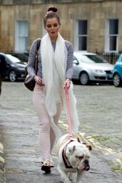 Helen Flanagan Taking Scotts Dog for a Walk - Bath, June 2014