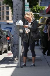 Hilary Duff in Leggings - Out in Beverly Hills - June 2014