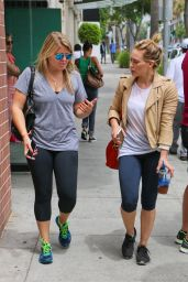 Hilary Duff in Leggings - Out in West Hollywood - June 2014