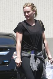 Hilary Duff Street Style - Out in Beverly Hills - June 2014