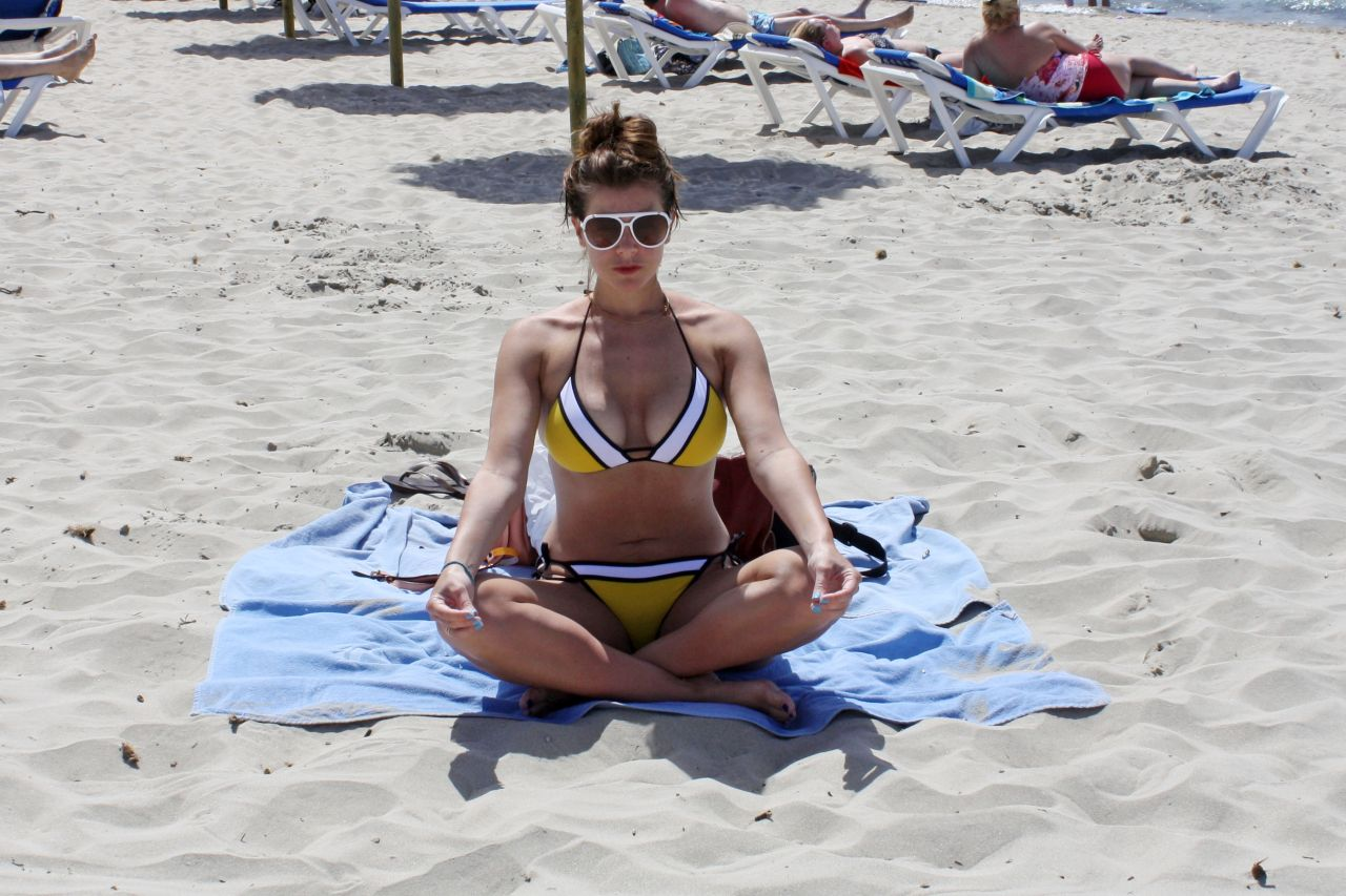 Imogen Thomas in a Bikini on a Beach in Spain - June 2014