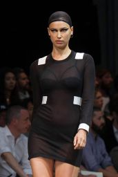 Irina Shayk at the Givenchy Fashion Show in Paris - June 2014