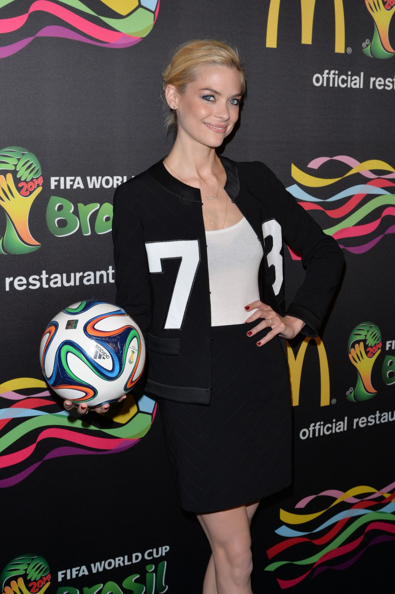 Jaime King at 2014 FIFA World Cup McDonald