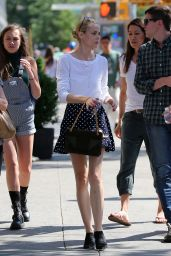 Jaime King in Mini Skirt - Leaving the Bowery Hotel in New York City