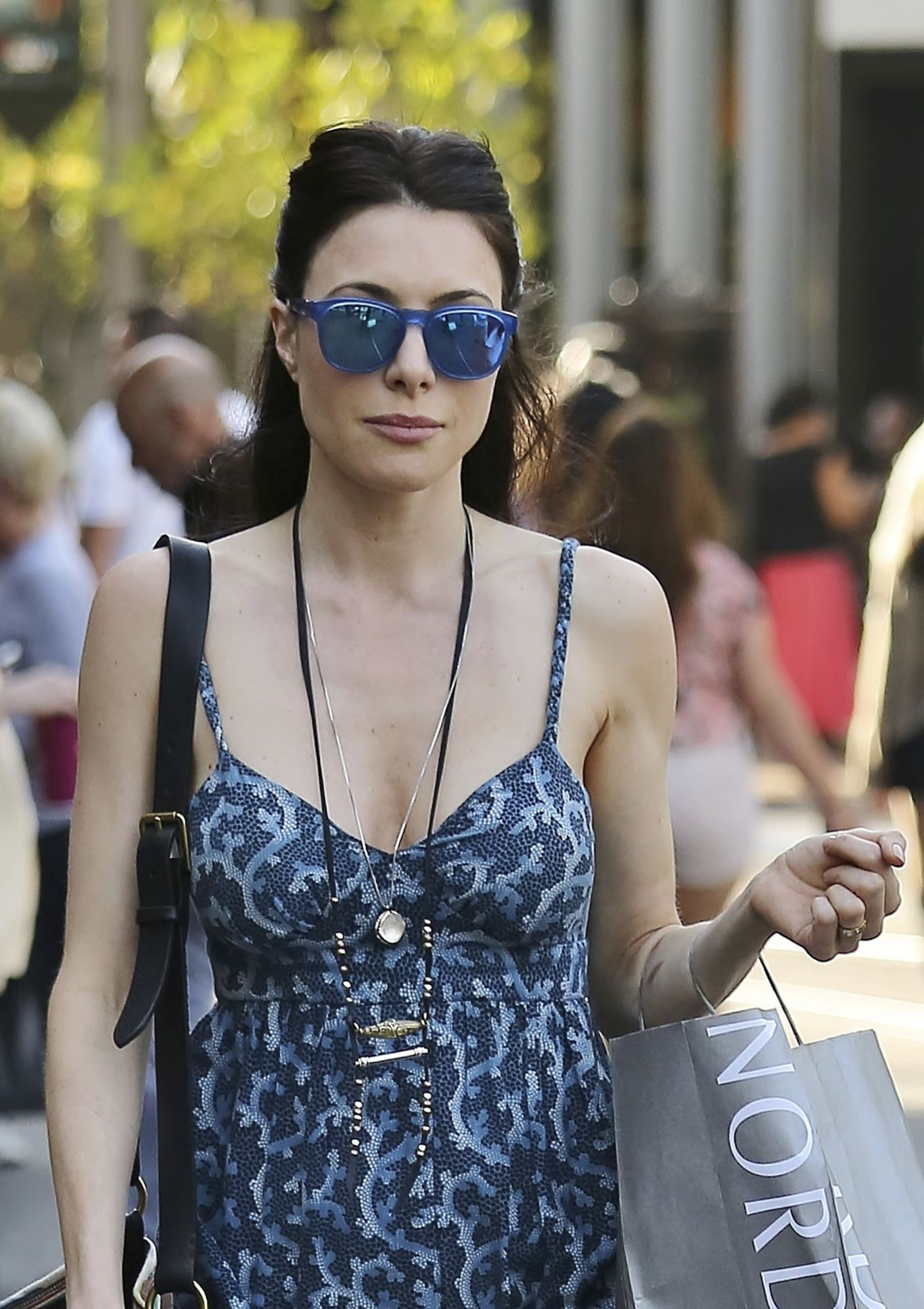 Jaime Murray Casual Style - Out at The Grove in Los Angeles