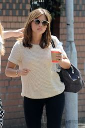Jenna-Louise Coleman - Out in Cardiff - June 2014