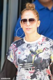 Jennifer Lopez in Black Tights Out in New York City - June 2014