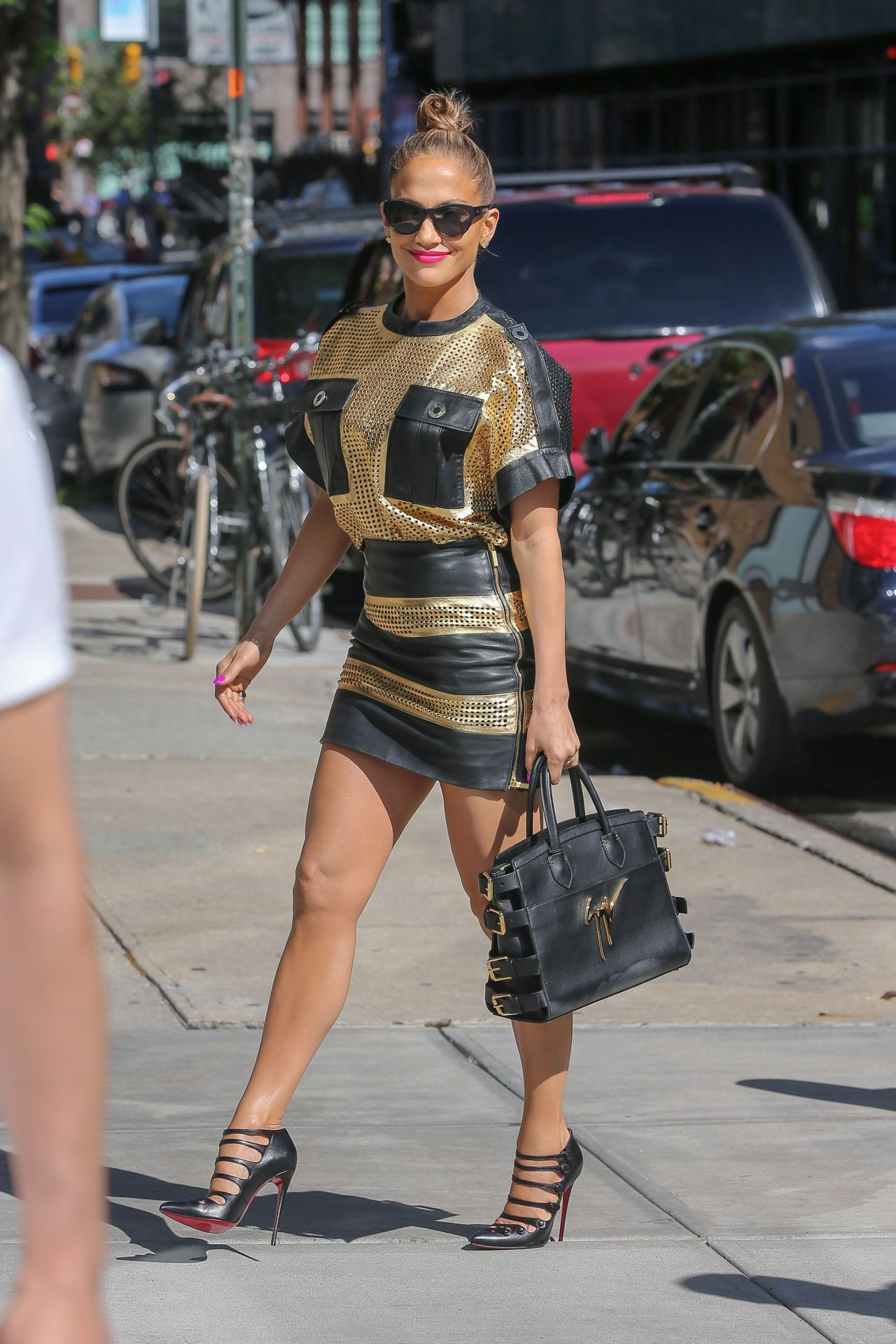 Jennifer Lopez Leggy - Out in New York City - June 2014