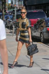 Jennifer Lopez Leggy - Out in New York City - June 2014
