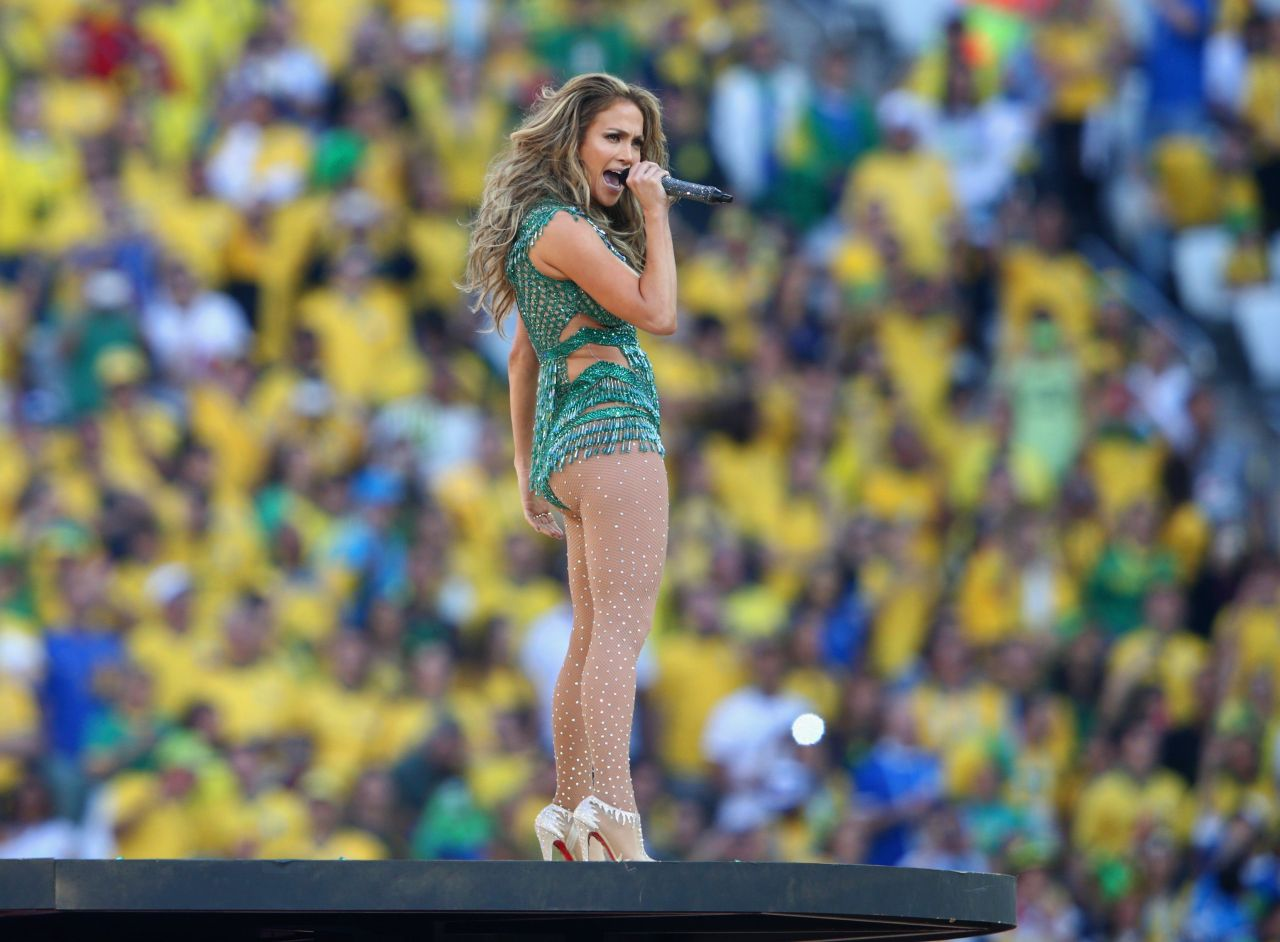 Singer Jennifer Lopez performs during the 2014 FIFA World
