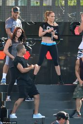 Jennifer Lopez - Rehearsing for the iHeartRadio Ultimate Pool Party 2014 in Miami Beach