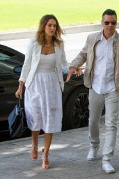 Jessica Alba and Cash Warren at a Friends Wedding in Beverly Hills - June 2014