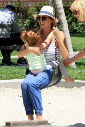 Jessica Alba at Coldwater Canyon Park in Beverly Hills - May 2014