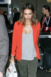 Jessica Alba at LAX Airport - June 2014