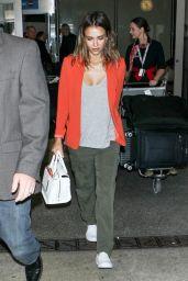Jessica Alba at LAX Airport - June 2014