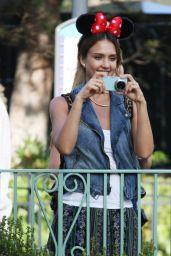 Jessica Alba Candids – Disneyland in Anaheim, June 2014
