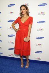 Jessica Alba in Preen by Thornton Bregazzi Dress – Samsung Hope For Children Gala 2014 in New York City
