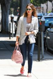 Jessica Alba Street Style - at a Nail Salon in Brentwood - June 2014