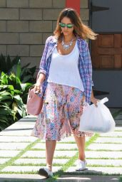 Jessica Alba Street Style - Out in Culver City - June 2014