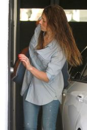 Jessica Biel in Jeans - Leaving the Gym in Hollywood - June 2014