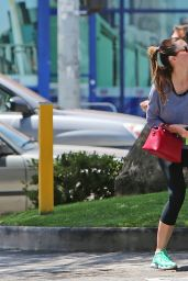Jessica Biel in Leggings - Out in Hollywood - June 2014