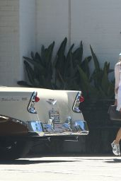 Jessica Biel in Mini Skirt at Lakeside Golf Club in Burbank - June 2014