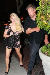 Jessica Simpson Night out Style - Sunset Marquis Hotel in West Hollywood - June 2014