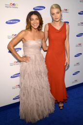 Jessica Szohr & Jessica Stam – Samsung Hope for Children Gala 2014 in New York City