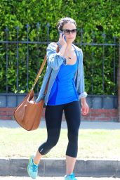Jordana Brewster in Leggings - Out in Beverly Hills - June 2014