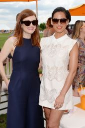 Julianne Moore and Olivia Munn at Veuve Clicquot Polo Classic in Jersey City – May 2014