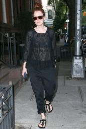 Julianne Moore Street Style - Out in New York City - June 2014