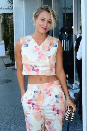 Kaley Cuoco Attends The Little White Dress Capsule Collection Launch in Los Angeles