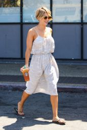 Kaley Cuoco - In a Summer Dress - Out in Los Angeles - May 2014