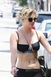 Kaley Cuoco in Spandex leaving a Yoga Class in Los Angeles - June 2014
