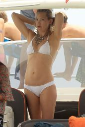 Kate Hudson Wears White Bikini on a Boat in Ibiza - June 2014