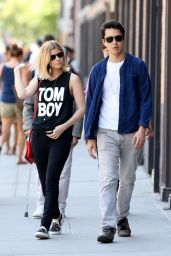 Kate Mara With Boyfriend Out in New York City - June 2014