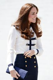 Kate Middleton Wearing  Alexander McQueen - Official Visit to Bletchley Park - June 2014