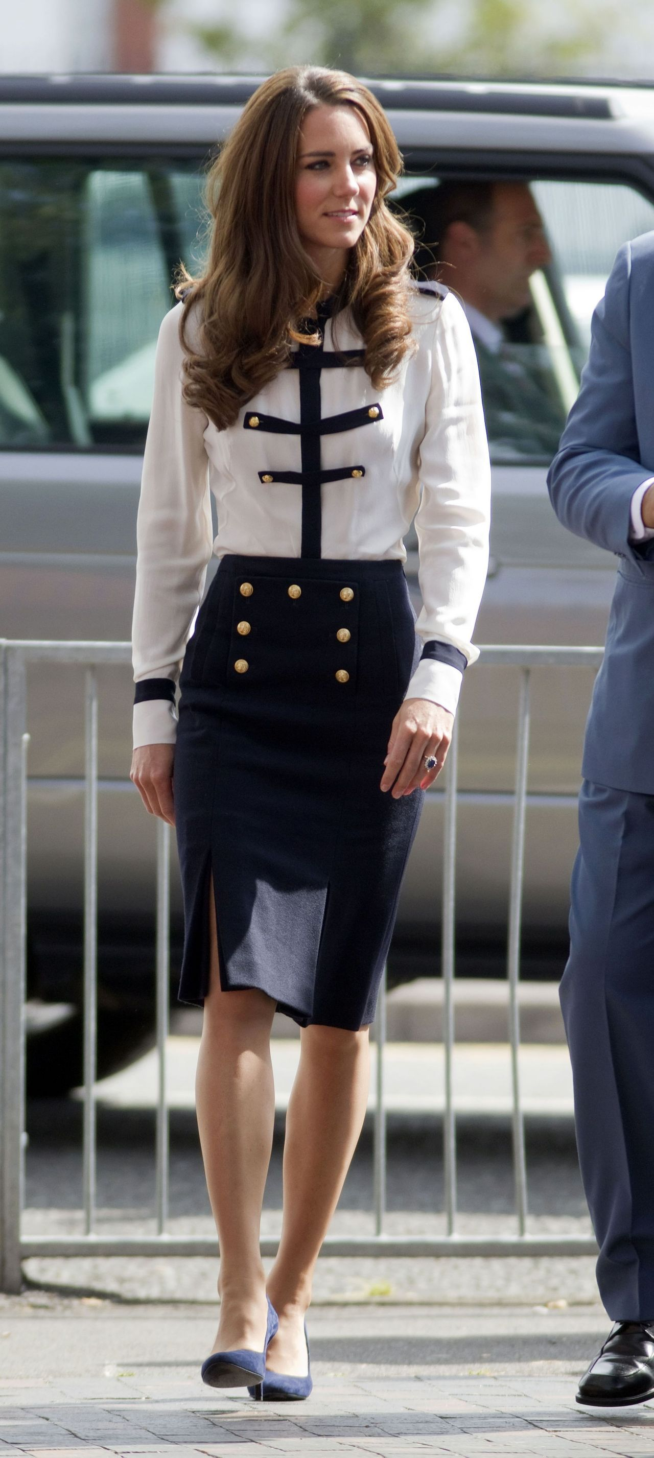 Kate Middleton Wearing Alexander Mcqueen Official Visit