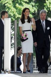 Kate Middleton Wearing Jaeger Dress - Visits the National Maritime Museum in Greenwich
