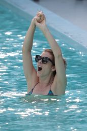 Kate Walsh in a Bikini at a Pool in Miami - June 2014